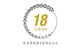 18 años experiencia
